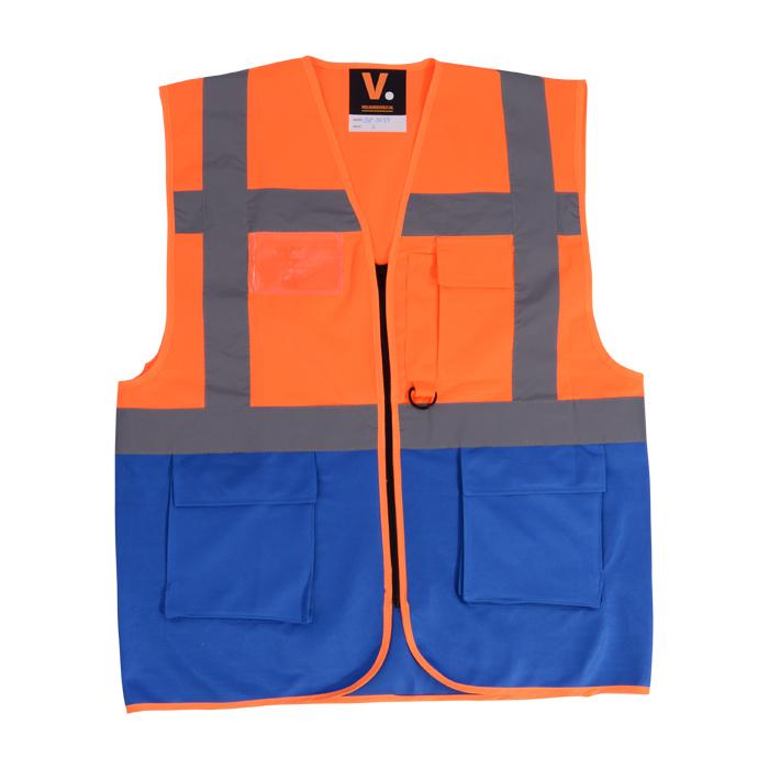veiigheidsvest in oranje blauw