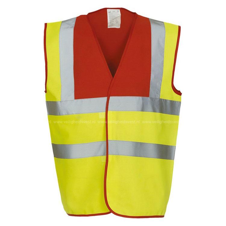 safety vest geel rood